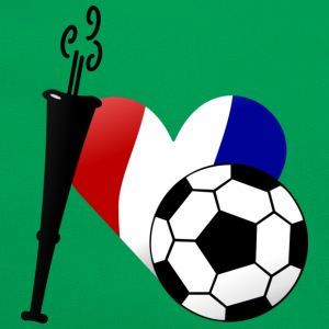 Vert tendre J'aime le football français / I heart French soccer (DDP) T-shirts Enfants - Sac Retro