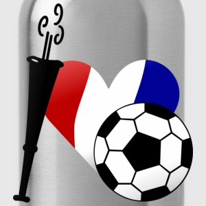 Vert tendre J'aime le football français / I heart French soccer (DDP) T-shirts Enfants - Gourde