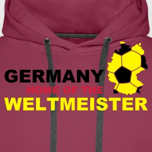 germany home of the weltmeister - Men's Premium Hoodie