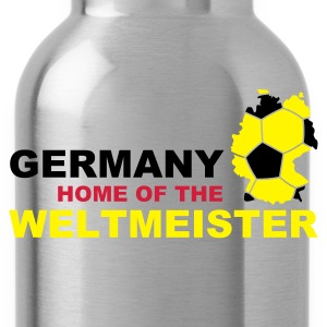 germany home of the weltmeister  - Water Bottle