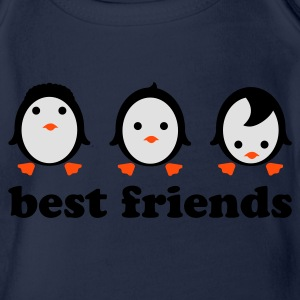 Royal blue Best friends Shirts - Organic Short-sleeved Baby Bodysuit