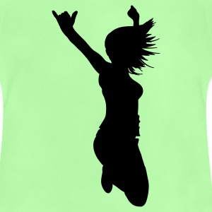 Kelly green silhouette woman pose Kids' Shirts - Baby T-Shirt