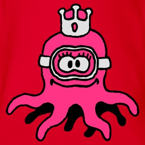 little_princess_octopuss_b_3c Shirts - Baby bio-rompertje met korte mouwen
