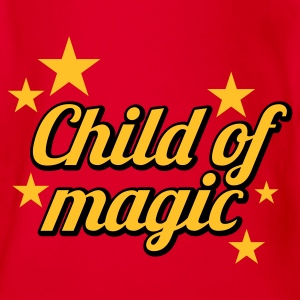 Pink Child of Magic © Kinder T-Shirts - Organic Short-sleeved Baby Bodysuit