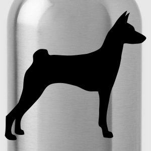 Stereo rot Basenji T-Shirts - Trinkflasche