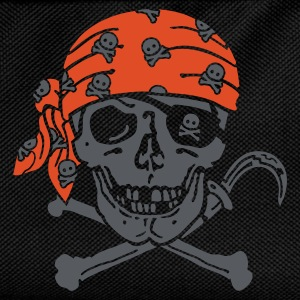 Black Pirate Skull ( for black shirts) T-Shirts - Kids' Backpack