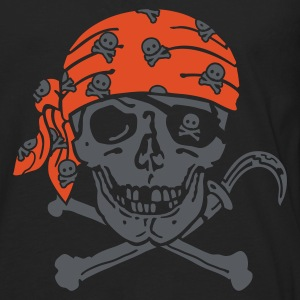 Black Pirate Skull ( for black shirts) T-Shirts - Men's Premium Longsleeve Shirt