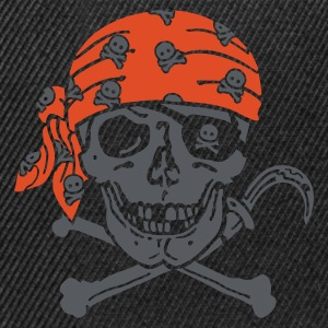 Black Pirate Skull ( for black shirts) T-Shirts - Snapback Cap