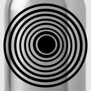 Brown Circles in Circles T-Shirts - Water Bottle