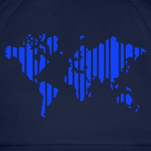 Celeste Earth world map in stripes camiseta - Gorra béisbol