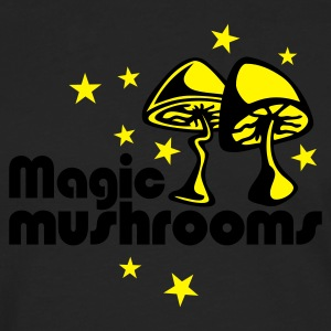 Brown Magic mushrooms T-Shirt - Maglietta Premium a manica lunga da uomo