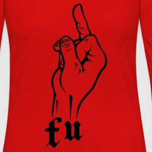Yellow f_u_fuck_you T-Shirts - Women's Premium Longsleeve Shirt