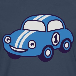 Sky Blue racing car Juniors - Herre premium T-shirt med lange ærmer