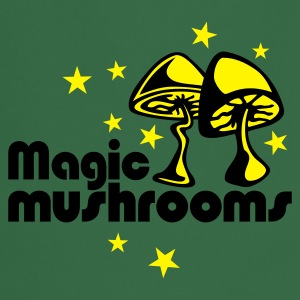 Grass Green Magic mushrooms T-Shirt - Kochschürze