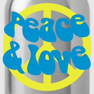 Groovy Peace and Love - Water Bottle
