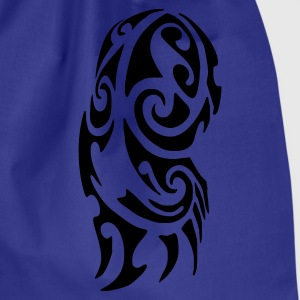 Royal blue Maori Tattoo Men's Tees (short-sleeved) - Drawstring Bag