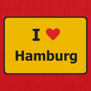 Light pink I Love Hamburg T-Shirts (Kurzarm) - Stoffbeutel