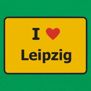 Kelly green I Love Leipzig T-Shirts (Kurzarm) - Retro Tasche