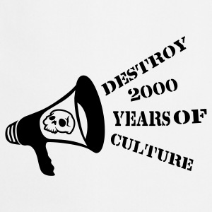 Ceniza destroy_2000_years_of_culture3 Camisetas - Delantal de cocina