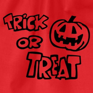 Burgunder rot Trick or Treat (Halloween) 1farb T-Shirts (Kurzarm) - Turnbeutel