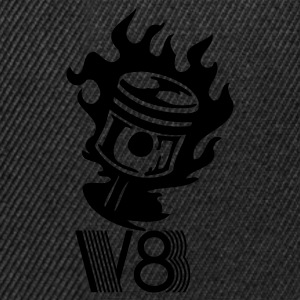 Black v8_motor_power_muscle_car T-Shirts - Snapback Cap