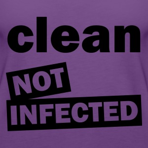 Indigo clean_not_infected T-shirts - Vrouwen Premium tank top