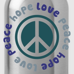 Peace Hope Love - Water Bottle