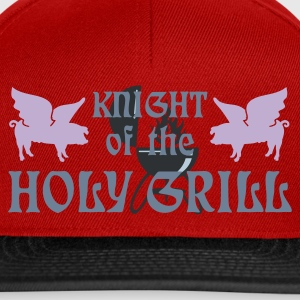Rouge foncé Knight of the holy grill (Txt, 2c) T-shirts - Casquette snapback