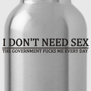 Black No need for sex Women's Tees - Water Bottle