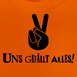 Gelb Uns gefällt alles (Peace) Kinder T-Shirts - Baby T-Shirt