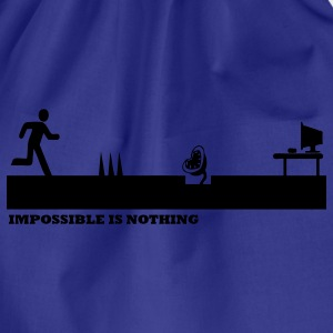 Bleu royal Impossible Is Nothing T-shirts - Sac de sport léger