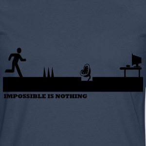 Bleu royal Impossible Is Nothing T-shirts - T-shirt manches longues Premium Homme