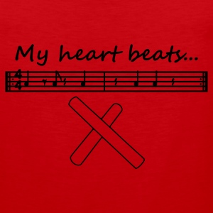 My heart beats... (3-2 Son Clave) - Männer Premium Tank Top