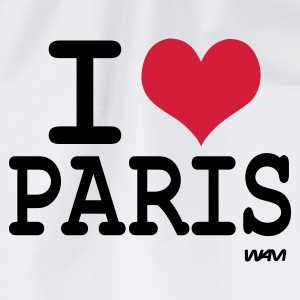 Hvit i love paris by wam T-skjorter - Gymbag
