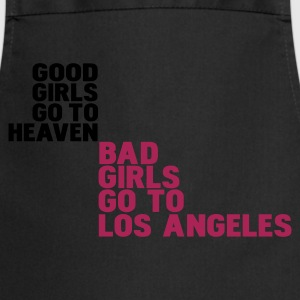 Zwart bad girls go to los angeles T-shirts - Keukenschort