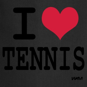 Nero i love tennis by wam T-shirt - Grembiule da cucina
