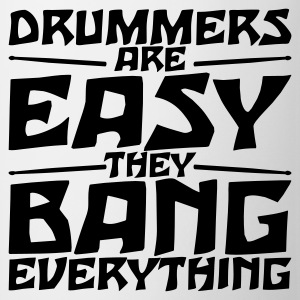 Beige Drummers are easy T-Shirt  - Kopp