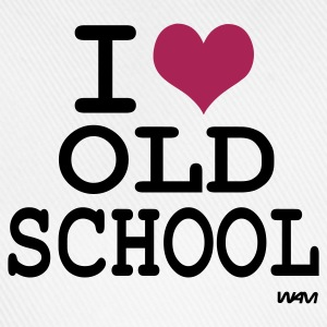 Ljusgrå i love old school by wam T-shirts - Basebollkeps