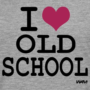 Ljusgrå i love old school by wam T-shirts - Långärmad premium-T-shirt herr