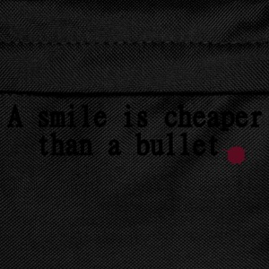 Schwarz A smile is cheaper than bullet T-Shirts - Kinder Rucksack