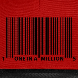 barcode_one_in_a_million T-Shirts - Snapback Cap