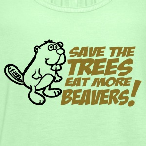 Save the trees eat more beavers t-shirts - Women's Tank Top by Bella