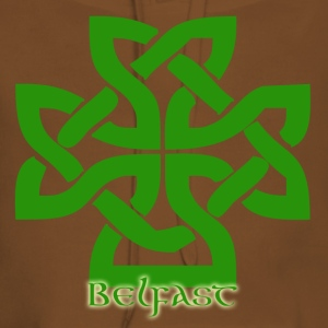 Yellow Belfast Celtic Cross Men's T-Shirts - Women's Premium Hoodie