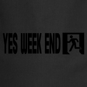 Zwart yes week end T-shirts - Keukenschort