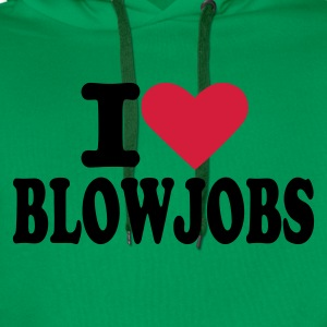 Bottlegreen I love blowjobs T-Shirts - Männer Premium Hoodie