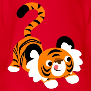 Una tigre cartoon pronto a balzare! da Cheerful Madness! T-shirt bambini - Body ecologico per neonato a manica corta