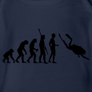 evolution_taucher_a Shirts - Organic Short-sleeved Baby Bodysuit