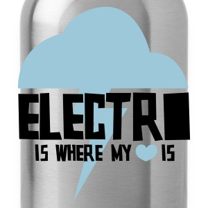 Electro is where my heart is - Water Bottle