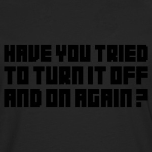 Turn it Off - T-shirt manches longues Premium Homme