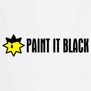 Weiß Paint It Black T-Shirts - Kochschürze